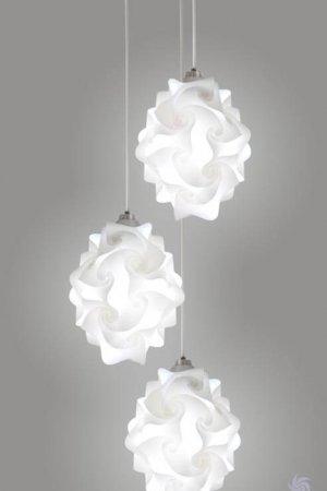 EQLight 3 Lights Chi Contemporary Multi Pendant Lamp