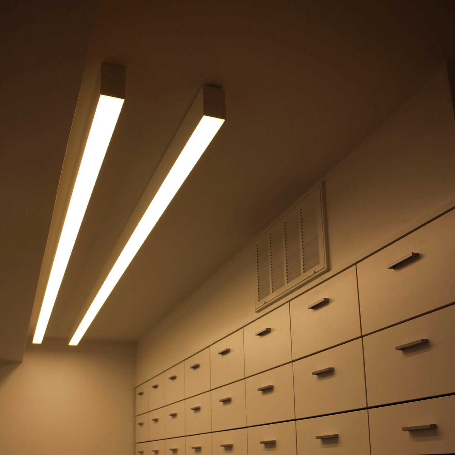 slim linear light img projects refurbishment lighting for office