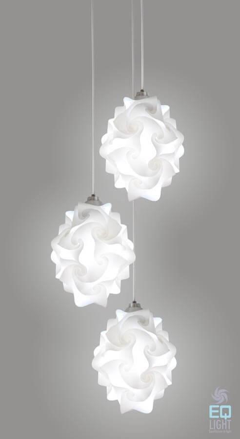 EQLight 3 Lights Chi Contemporary Multi Pendant L& & EQLight Contemporary Lighting Designers Manufacturers - EQLight azcodes.com