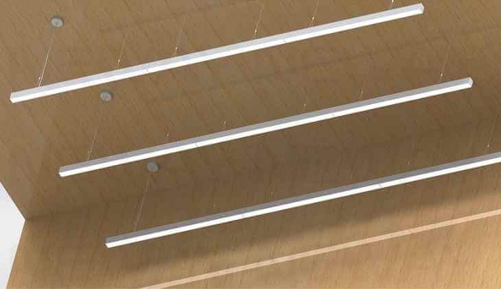 Lighting Lab Aluminum Led Linear Pendant Recessed